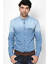 Light Blue Full Sleeve Casual Shirt