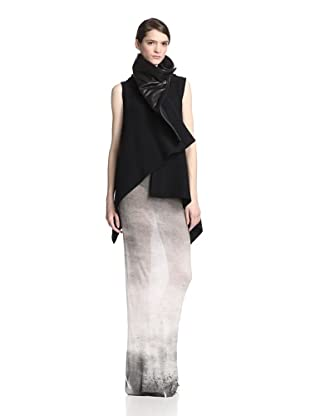Ann Demeulemeester Women's Sibil Wrap with Leather (Black)