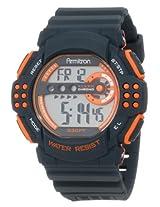 Armitron Sport Men's 40/8270GMG Large Orange Accented Grey Resin Strap Chronograph Watch