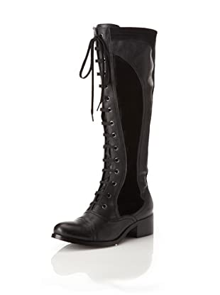 Chocolat Blu Women's Najwa Lace-Up Long Boot (Black)
