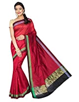 Korni Cotton Silk Banarasi Saree DS-1529- Red KR0471