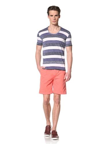 Antony Morato Men's Reverse Stripe Tee (Blue)