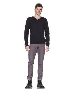 Comune Men's Jude V-Neck Sweater (Dark Navy)
