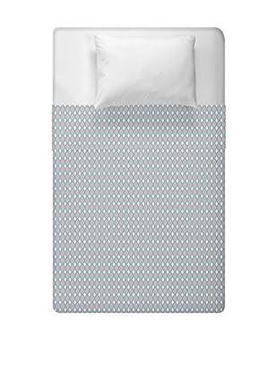 e by design Geometric Duvet Cover (Grey)