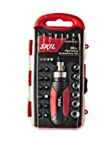 Skil Racheting Screw Driver Set (Red and Black - 30 Piece)