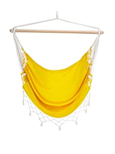 NOVICA Cotton Hammock Swing, Salvador Sun