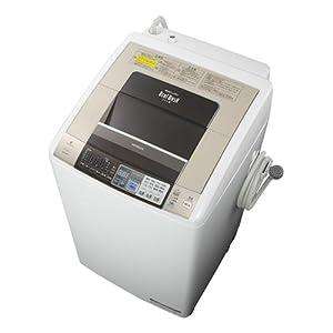 日立 8.0kg 洗濯乾燥機 シャンパンHITACHI ビートウォッシュ BW-D8PV-N