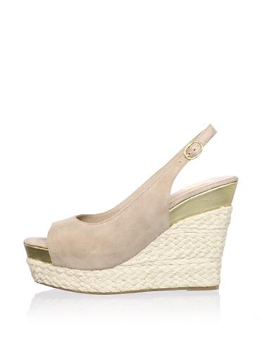 Dolce Vita Women's Joss Wedge Sandal (Nude Suede)