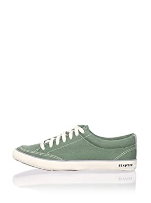SeaVees Women's Tennis Shoe (Faded Green Canvas)