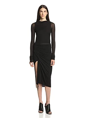Rick Owens Lilies Women's Draped Skirt (Black)