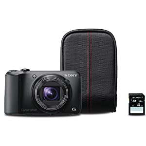 Sony Cyber-shot DSC-H90/B 16 Megapixel Digital Camera Bundle - Black