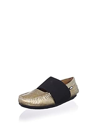Venettini Kid's Lilly Mary-Jane Loafer (Toddler/Little Kid/Big Kid) (Gold Silver Embossed)