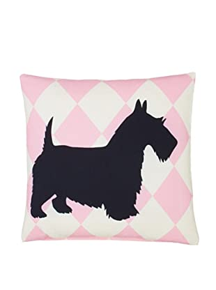 Twinkle Living Scottish Terrier Pillow Cover (Pink/Black)