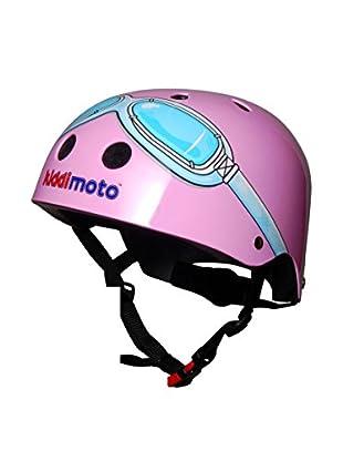 Kiddimoto Fahrradhelm Pink Goggle Pilot