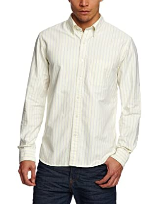 Brooks Brothers Camisa Spike (Amarillo / Azul)