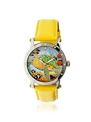 Bertha Women's BR4902 Chelsea Yellow/Multicolor Leather Watch
