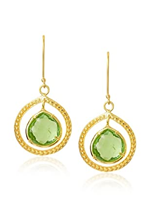 Coralia Leets Avocado Quartz Teardrop Dangle Earrings