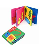 Intelligence Development Cloth Cognize English Hand Book Early Education Toy for Kid Baby (Learning shapes)