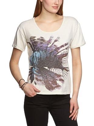 Selected Femme Camiseta Celeste (Amarillo Claro)