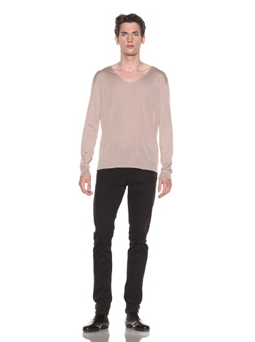 Halston Men's V-Neck Sweater (Old Pink)