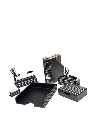 Homessence Park Avenue Desktop Set, Black/White