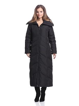 Calvin Klein Women's Long Down Coat (Black)