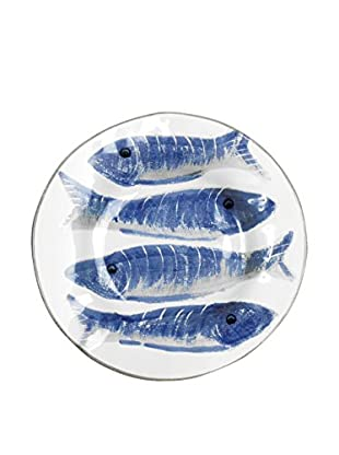 Napa Home and Garden Pesci Salad Plate, White/Blue