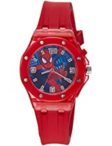 Marvel Comics Analogue Red Dial Children's Watch - AW100036