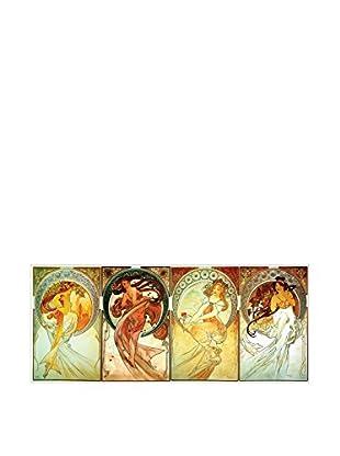 Artopweb Panel Decorativo Mucha Poetry, Dance, Painting, Music