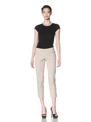Philosophy di Alberta Ferretti Women's Slim Fit Cropped Pant (Beige)
