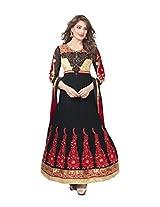 Adah Fashions Women Bemberg Dress Material (430-1009 _Black _42)