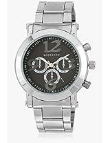 P9032-N Silver/Black Analog Watch Giordano
