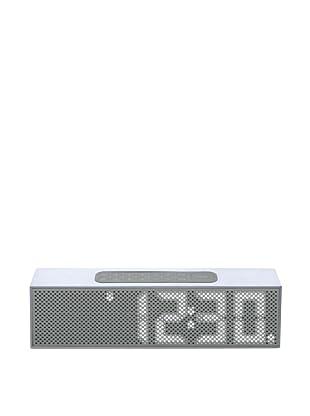 Lexon Titanium LED Clock Radio, Grey