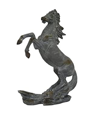 Three Hands Stallion Sculpture, Antique Grey