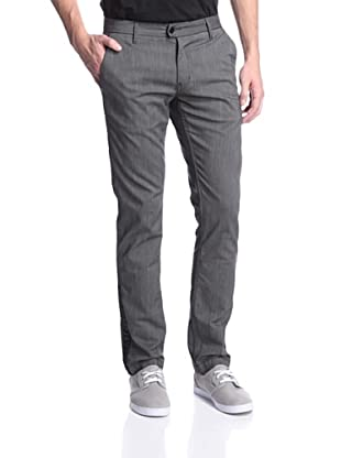 Mondo di Marco Men's Slim Fit Trouser Jean with Tux Stripe (Grey)