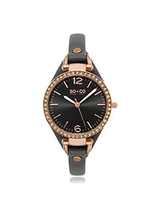 SO&CO New York Women's 5061.1 SoHo Analog Display Quartz Grey Watch