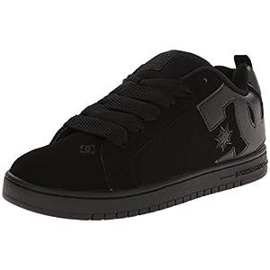 DC Court Graffik Men's Shoes Sports Wear Footwear - Black/Black/Black / Size 8 D