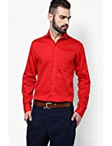 Red Slim Fit Formal Shirt I Know