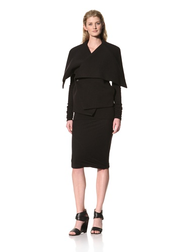 RICK OWENS Women's Oversized Collar Jacket (Black)