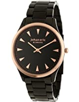 Johan Eric Men's JE9000-10-007B Helsingor Black and Rose Gold Ion-Plated Steel Bracelet Watch
