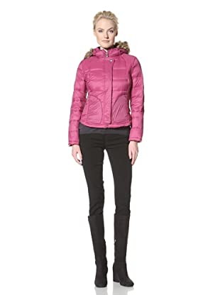 Calvin Klein Women's Packable Down Jacket (Fuchsia)