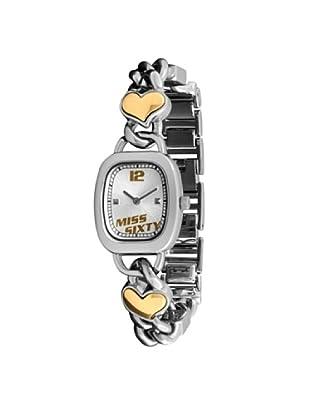 Miss Sixty SQZ001 - Reloj de mujer de cuarzo, correa de acero inoxidable color plata
