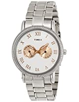 Timex E Class Analog Off-White Dial Men's Watch - TI000J20700
