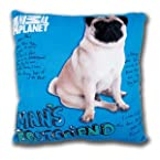 Animal Planet Square Cushion With Pug Imprint (Blue) - TFB-MBE-APC003