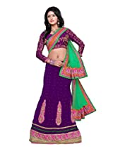 Surupta Violet Coloured Self Design Women's Lehenga Choli