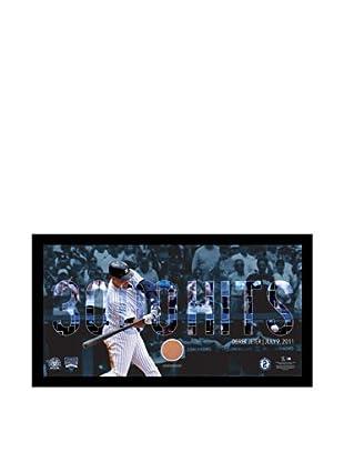Steiner Sports Memorabilia Derek Jeter Moments Framed Mosaic Text Overlay with Game Dirt