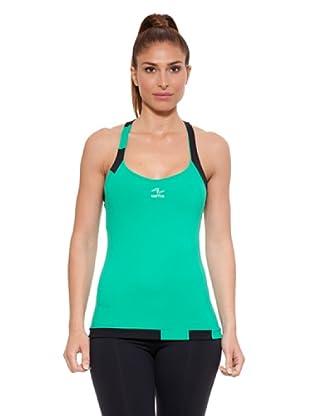 Naffta Camiseta Tirantes Nez (Verde / Negro)