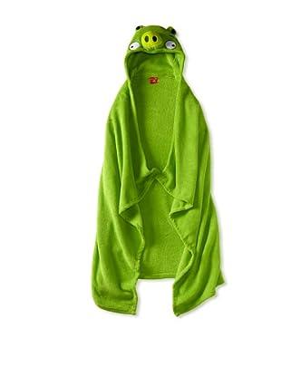 AME  Green Pig Hooded Blanket (Big Kid)