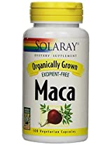 Organically Grown Maca Root Solaray 100 VCaps