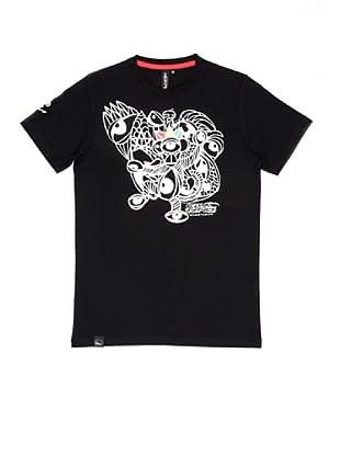 El Niño Camiseta Manga Corta Monkey (negro)